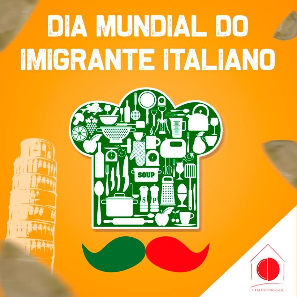 Dia do imigrante italiano. A influência da culinária italiana na cozinha brasileira.