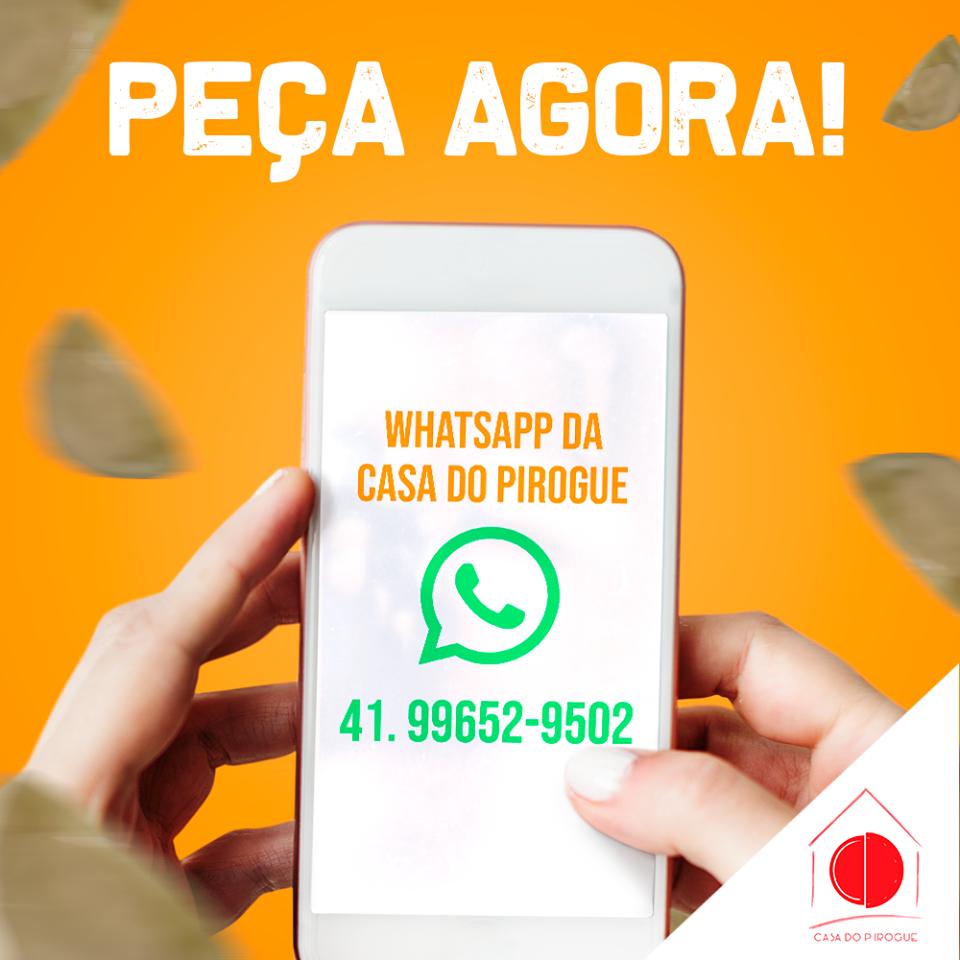 Delivery na Casa do Pirogue! Peça agora pelo WhatsApp!